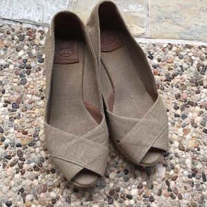 Tory Burch Espadrille Wedge Metallic brown